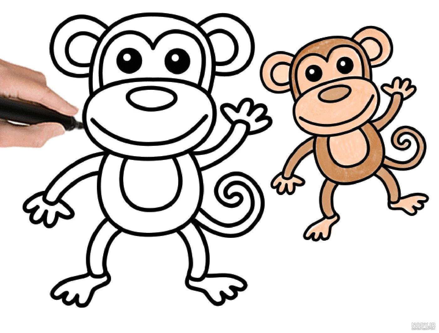 عکس میمون نقاشی شده