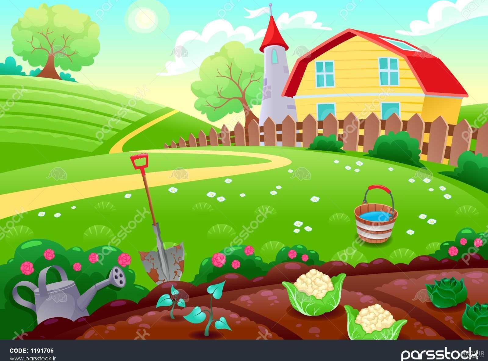 عکس کارتونی روستا