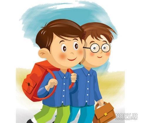 عکس کارتونی مدرسه پسرانه