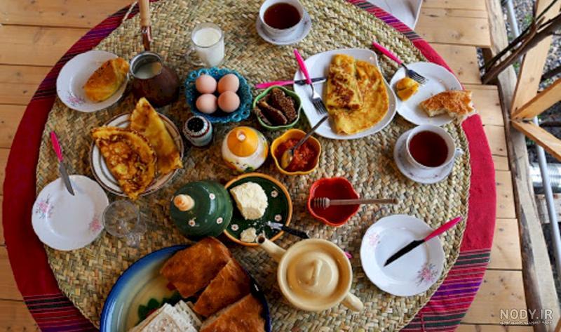 عکس روستا صبحانه