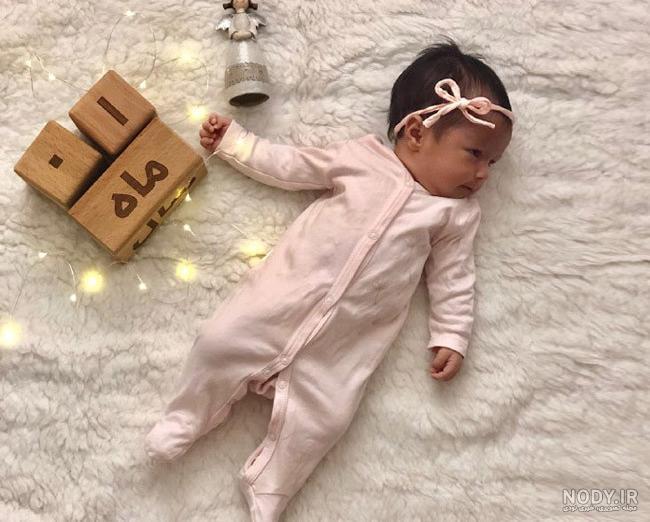 نمونه عکس یک ماهگی نوزاد