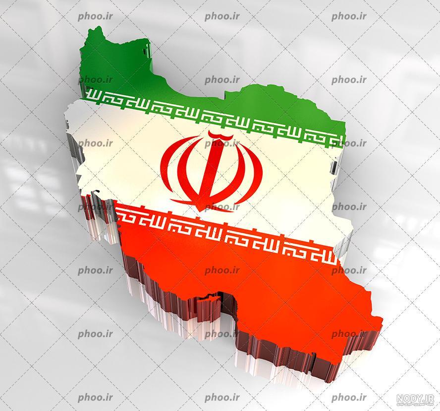عکس نقشه پرچم ایران