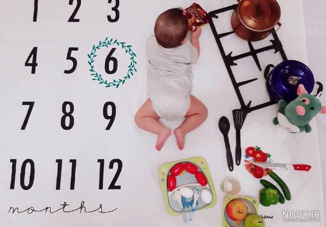 عکس غذاخور شدن نوزاد