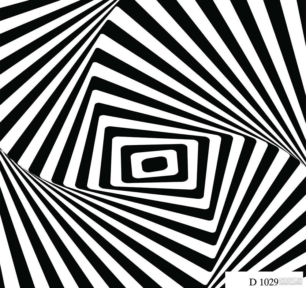 عکس سه بعدی سیاه سفید