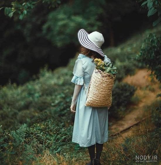 عکس طبیعت زیبا دختر