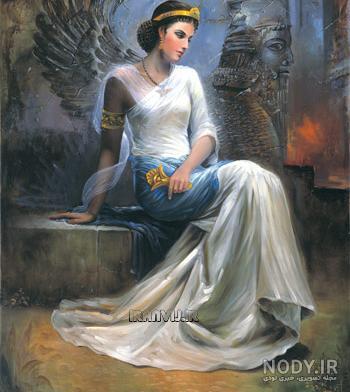 عکس نقاشی دختر هخامنشی
